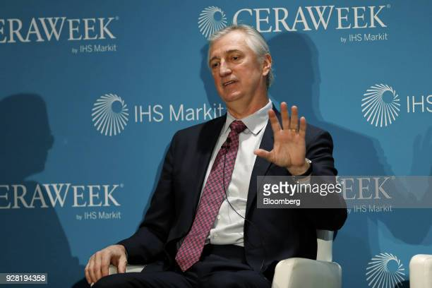 Ed Knapp chief technology officer of American Tower Corp speaks during the 2018 CERAWeek by IHS Markit conference in Houston Texas US on Tuesday...