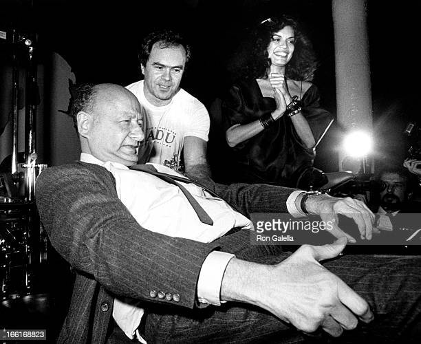 Ed Koch and Bianca Jagger attend Brooklyn Academy of Music's Next Wave Benefit Honoring Ed Koch on November 7 1984 at Area Nightclub in New York City