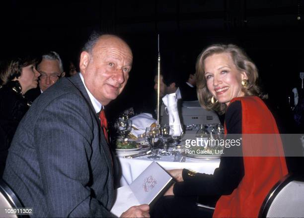 Ed Koch and Diane Sawyer during Citizens for New York Benefit February 18 1988 at Waldolf Astoria Hotel in New York City New York United States