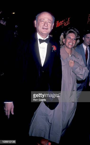 Ed Koch and Dinah Shore during A Night of 100 Stars Gala at RCA Music Hall in New York City New York United States