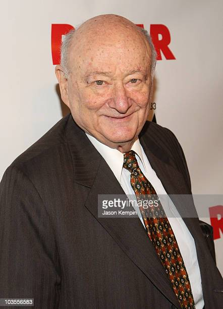 Ed Koch attends the Radar Magazine First Annual New Radicals Gala at The New Museum on December 4 2007 in New York City
