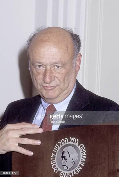 Ed Koch during Ed Koch at Albert Einstein Awards October 1 1984 at New York City in New York City New York United States