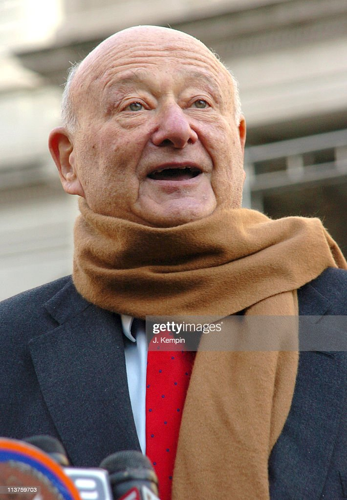Ed Koch during Former NYC Mayor Ed Koch Endorses Attorney General Eliot Spitzer for New York State Governor - December 30, 2005 at New York City Hall in New York City, New York, United States.