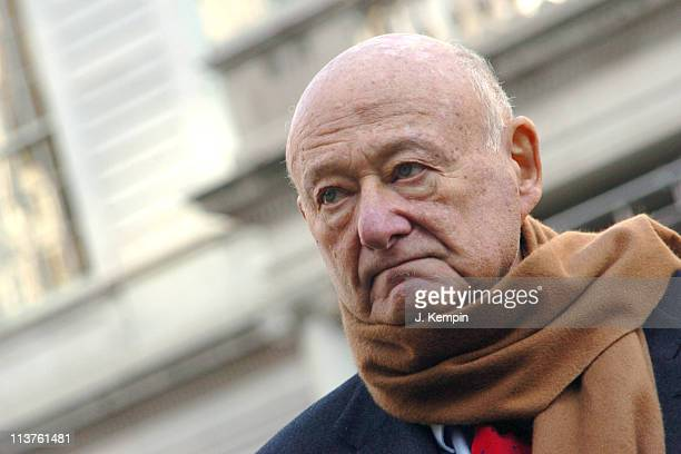 Ed Koch during Former NYC Mayor Ed Koch Endorses Attorney General Eliot Spitzer for New York State Governor December 30 2005 at New York City Hall in...