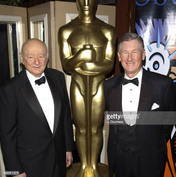 Ed Koch Former Mayor of New York and Robert Rehme President of the Academy of Motion Picture Arts Sciences