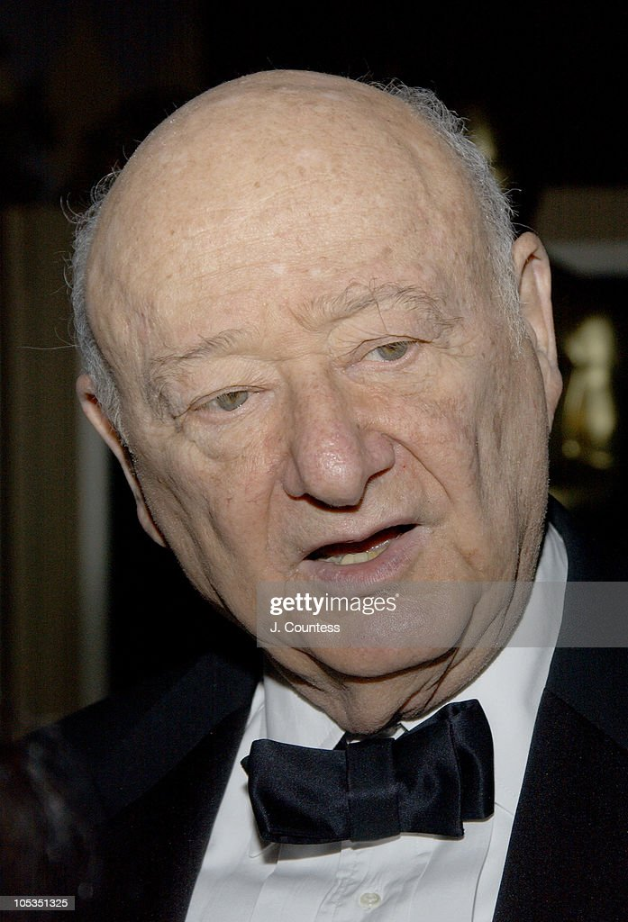 Ed Koch, Former Mayor of New York during The Academy of Motion Picture Arts & Sciences 2004 Oscar Night Party at Le Cirque 2000 in New York City, United States.