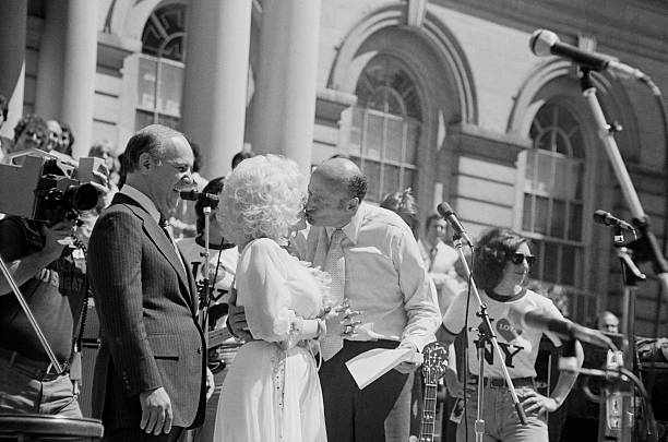 Ed Koch and Dolly Parton at City Hall