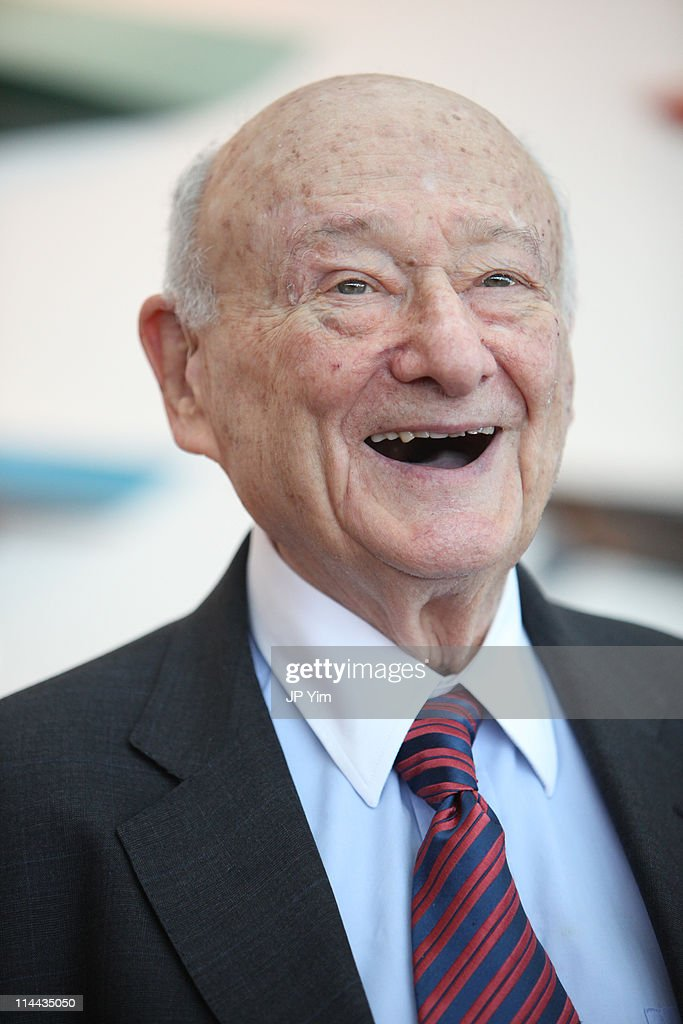 Ed Koch speaks at the renaming of the Queensboro Bridge in his honor at The Water Club Restaurant on May 19, 2011 in New York City.