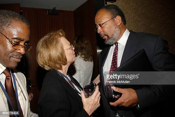 Ed Lewis Ann Moore and Dick Parsons attend CONVERSATIONS ON THE CIRCLE With Senator Barack Obama And Dick Parsons at Time Warner Headquarters on July...