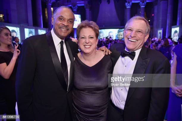 Ed Lloyd Caryl M Stern and Peter Lamm attend 13th Annual UNICEF Snowflake Ball 2017 at Cipriani Wall Street on November 28 2017 in New York City