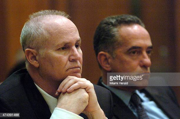 Ed Locascio left sits beside to his attorney Robert Amsell on Feb 20 2007 during the opening day of his trial in Miami Fla Locascio is a wealthy...