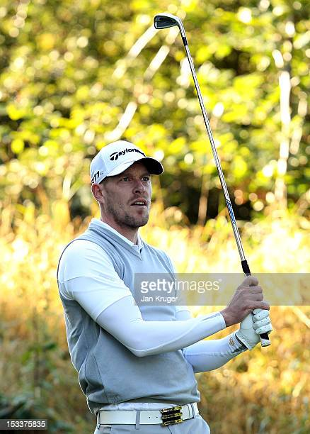 Ed Martin of Stonebridge GC looks on during day 2 of the Skins PGA Fourball Championship at Forest Pines Hotel Golf Club on October 4 2012 in...