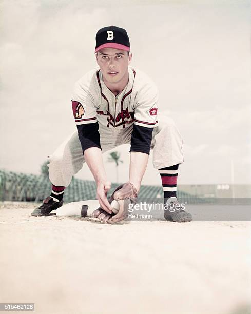 Ed Mathews of the Boston Braves is shown in this photograph