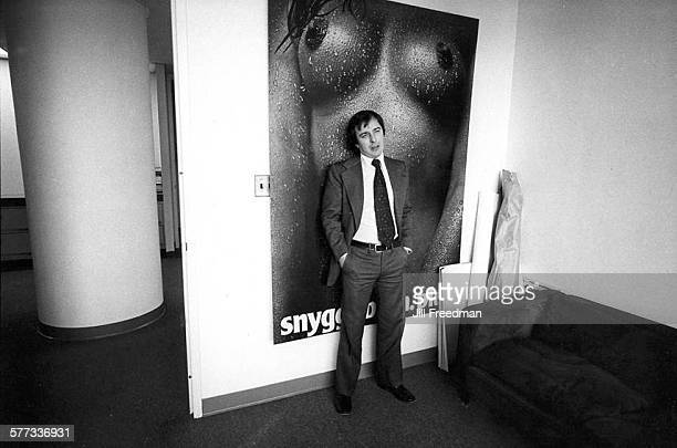 Ed McCabe cofounder of American advertising agency Scali McCabe Sloves in their agency's premises on Madison Avenue New York City circa 1970