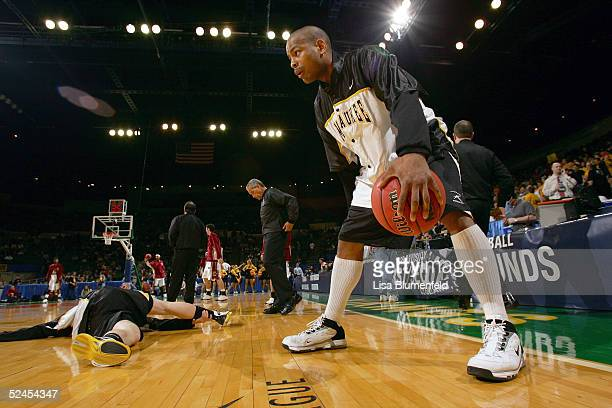 Ed McCants of the WisconsinMilwaukee Panthers warms up prior to taking on the Boston College Eagles during the second round of the 2005 NCAA...