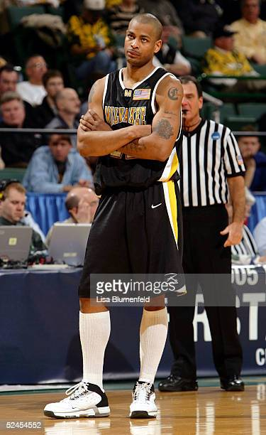 Ed McCants of the WisconsinMilwaukee Panthers watches a free throw during a game against the Boston College Eagles in the second round of the 2005...