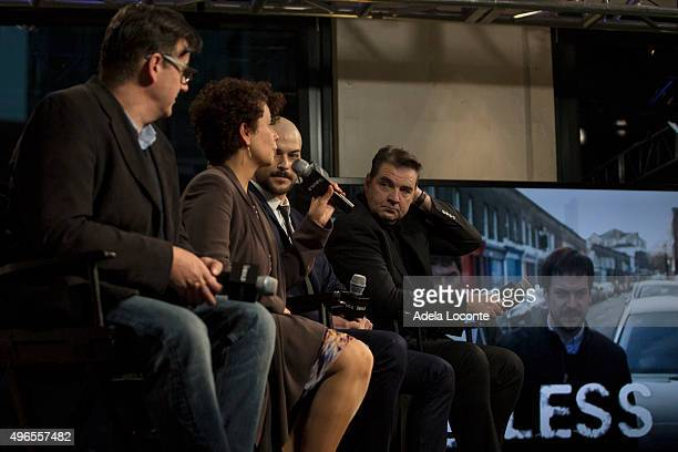 Ed McCardie Rola Bauer MarcAndre Grondin and Brendan Coyle attend AOL BUILD Presents 'Spotless' at AOL Studios In New York on November 10 2015 in New...