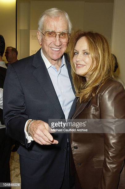 Ed McMahon and Catherine Bach during Peace and Love Jewelry by Nancy Davis Launch Party at Saks Fifth Avenue in Beverly Hills California United States