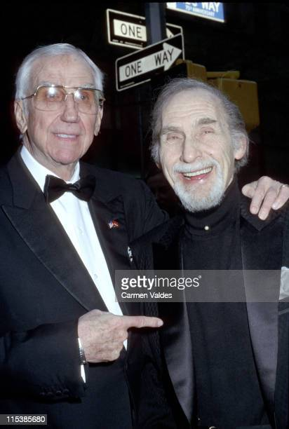Ed McMahon and Sid Caesar during NBC's 75th Anniversary Special at Rockefeller Center in New York City New York United States