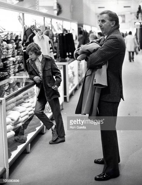 Ed McMahon and son during Ed McMahon Sighting December 16 1972 at Saks Fifth Avenue in New York City New York United States