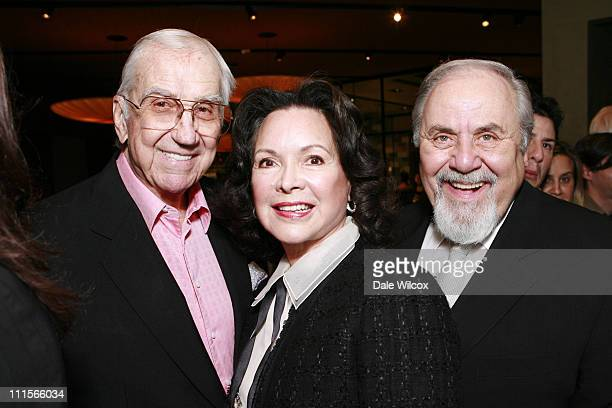 Ed McMahon Jolene Brand and George Schlatter during Nancy Davis Lean On Me Book Launch Party at Norman's in Los Angeles California United States