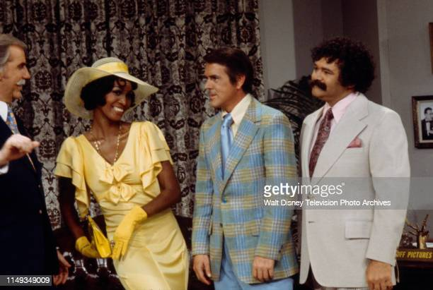 Ed McMahon Teresa Graves Jack Burns Avery Schreiber appearing in sketch on the ABC tv series 'The Burns and Schreiber Comedy Hour'