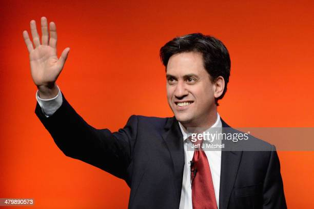 Ed Miliband leader of the Labour Party gives his speech to the Scottish Labour conference on March 21 2014 in Perth Scotland Mr Miliband told party...