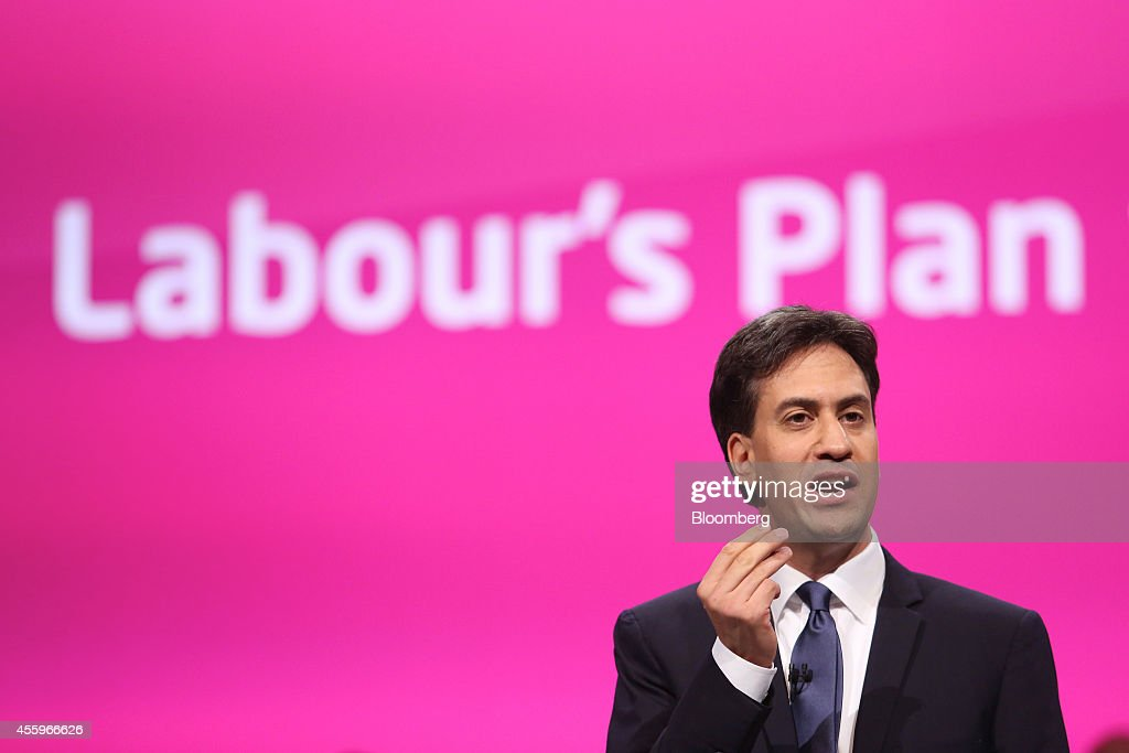 Labour Leader Ed Miliband Speaks At Opposition Party's Annual Conference : News Photo