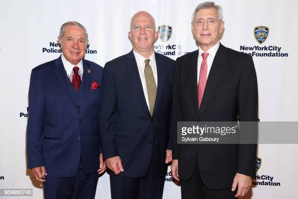 Ed Miller James O'Neill and H Dale Hemmerdinger attend the New York City Police Foundation 2018 Gala on May 17 2018 in New York City