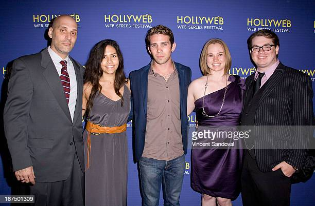 Ed Morrone Nina Carpenter Zach Silveman Layne Leisher and Ty Leisher attend the 2nd annual HollyWeb Festival at Avalon on April 7 2013 in Hollywood...
