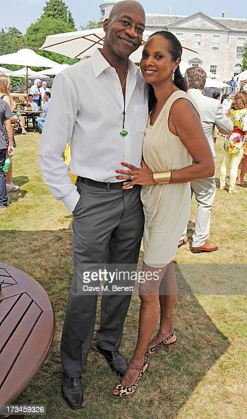 Ed Moses and Michelle Moses attend the Cartier Style Luxury Lunch at the Goodwood Festival of Speed on July 14 2013 in Chichester England