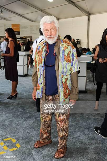 Ed Moses attends Art Platform LA at Barker Hangar on September 27 2012 in Santa Monica California