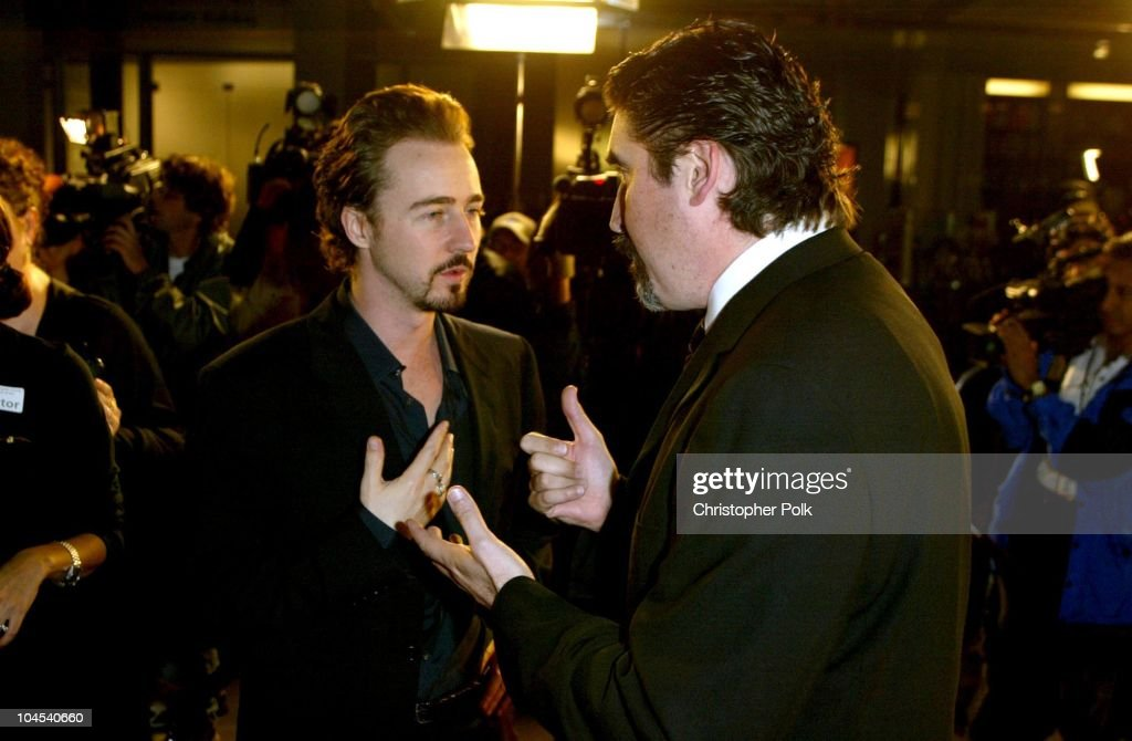 Ed Norton and Alfred Molina during 'Frida' Premiere - Arrivals at Los Angeles County Museum of Art in Los Angeles, CA, United States.