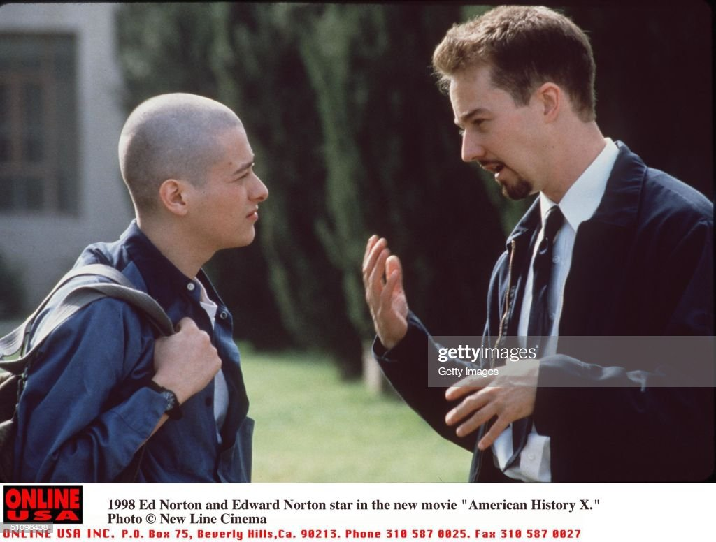Ed Norton And Edward Furlong Stars In The New Movie American History X L L : News Photo