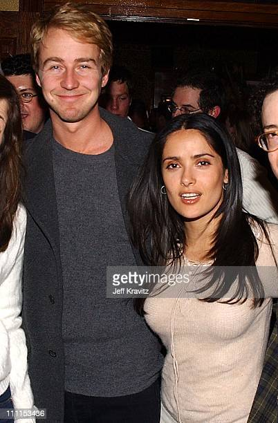 Ed Norton and Salma Hayek during US Comedy Arts Festival in Aspen Colorado United States