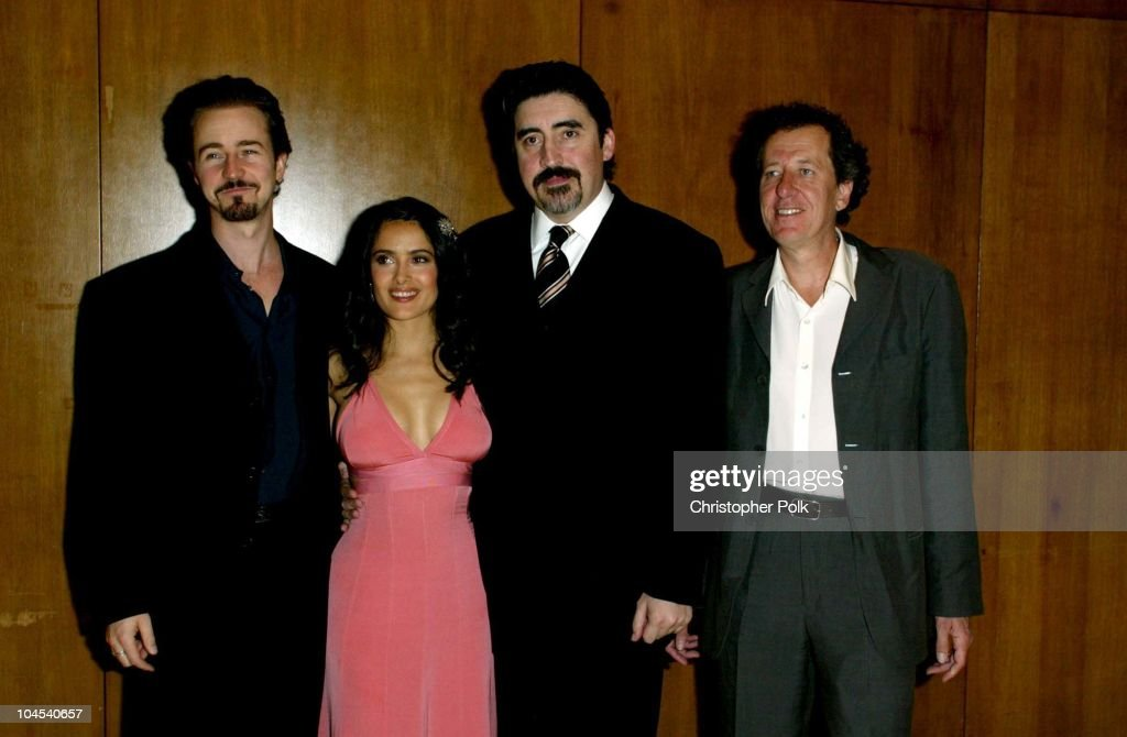 Ed Norton, Salma Hayek, Alfred Molina and Geoffrey Rush