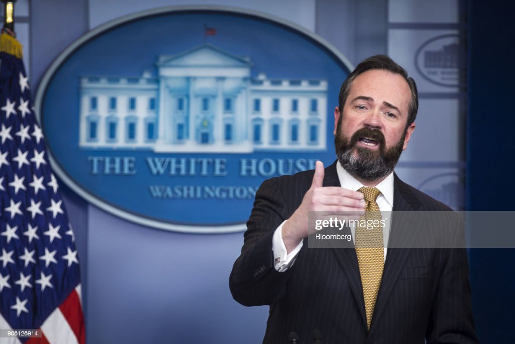 Principal Deputy Assistant Attorney General Ed O'Callaghan Speaks During White House Press Briefing