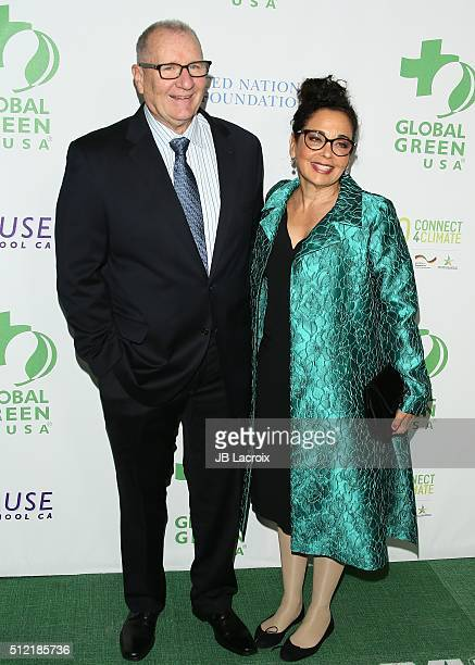 Ed O'Neill and Catherine Rusoff attend Global Green USA's 13th annual preOscar party at Mr C Beverly Hills on February 24 2016 in Los Angeles...