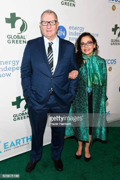 Ed O'Neill and Catherine Rusoff attend the 15th Annual Global Green PreOscar Gala on February 28 2018 in Los Angeles California
