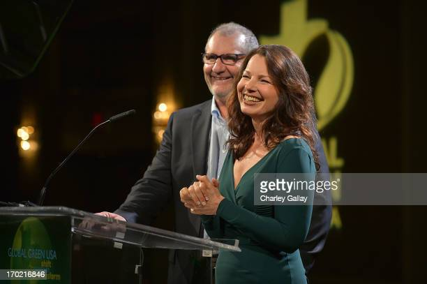 Ed O'Neill and Fran Drescher speak at Global Green USA's Millennium Awards at Fairmont Miramar Hotel on June 8 2013 in Santa Monica California...