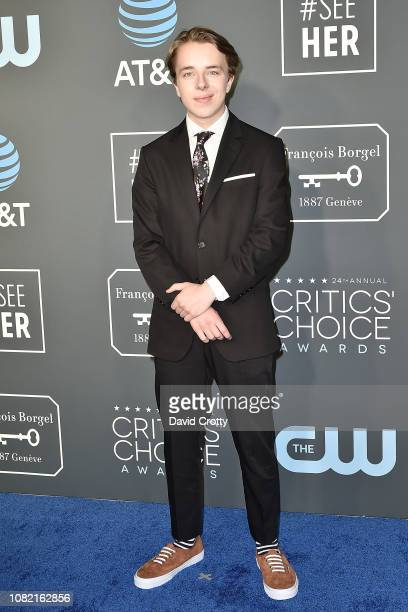 Ed Oxenbould attends the 24th Annual Critics' Choice Awards Arrivals at Barker Hangar on January 13 2019 in Santa Monica California