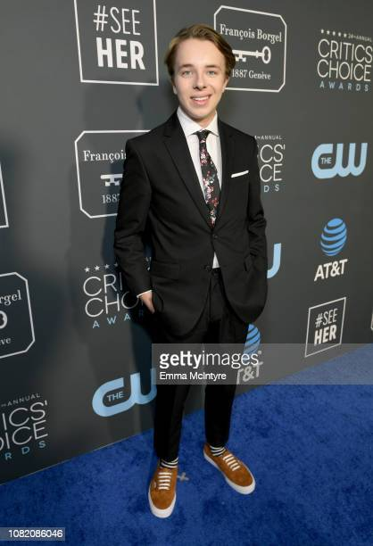 Ed Oxenbould attends the 24th annual Critics' Choice Awards at Barker Hangar on January 13 2019 in Santa Monica California
