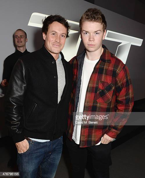 Ed Poulter and Will Poulter attends the exclusive UK debut unveiling of the all new Audi TT at Audi City on March 5 2014 in London England