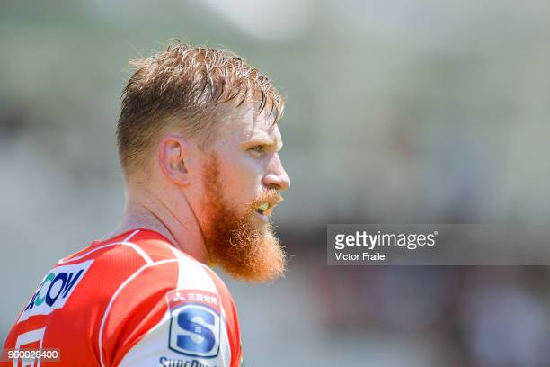 Ed Quirk of Sunwolves looks on during the Super Rugby match between Sunwolves and Stormers at Mong Kok Stadium on May 19 2018 in Hong Kong