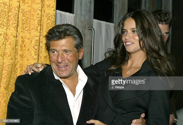 Ed Razek of Victoria's Secret and Adriana Lima during Victoria's Secret Backstage Sexy Photo Book Preview AfterParty at Spice Market in New York City...