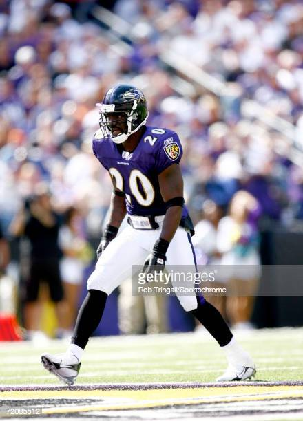 Ed Reed of the Baltimore Ravens lines up for a play against San Diego Chargers on October 1, 2006 at M&T Bank Stadium in Baltimore, Maryland. The...