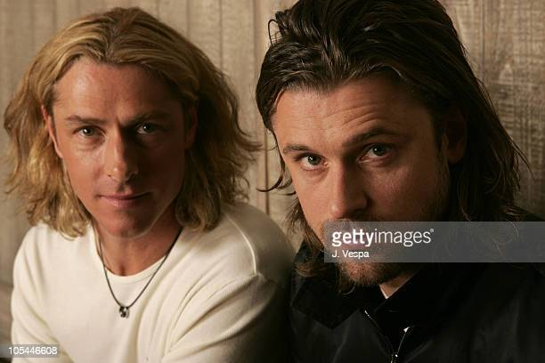 Ed Roland and Dean Roland of Collective Soul during 2005 Park City Collective Soul Portraits at HP Portrait Studio in Park City Utah United States