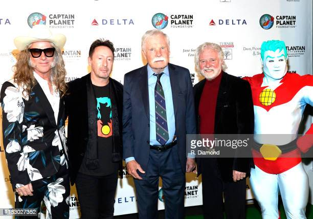 Ed Roland Collective Soul Julian Lennon Ted Turner Rolling Stones Keyboardist/Honoree Chuck Leavell Ted Turner and Captain Planet attend 2019 Captain...