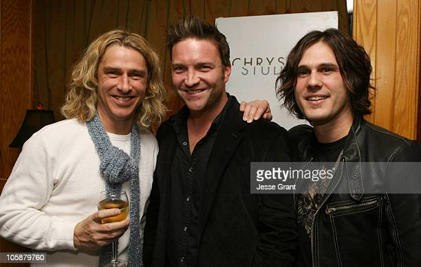 Ed Roland of Collective Soul with Larry Bagsly and Joel Kosche of Collective Soul