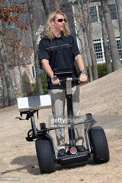 Ed Roland of the band Collective Soul rides a Segway while hosting The second annual Arby's Charity Tour Golf tournament at Chateau Elan Resort in...